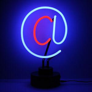 Luci Al Neon Per Ufficio.Dettagli Su Scrivania Da Computer Lampada At Simbolo Neon Scultura Ufficio Decorazione