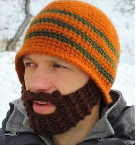 d7c41c0bf7c Badass Viking Beanie Beard Hat Barbarian Men s Warm Knit Horn for ...