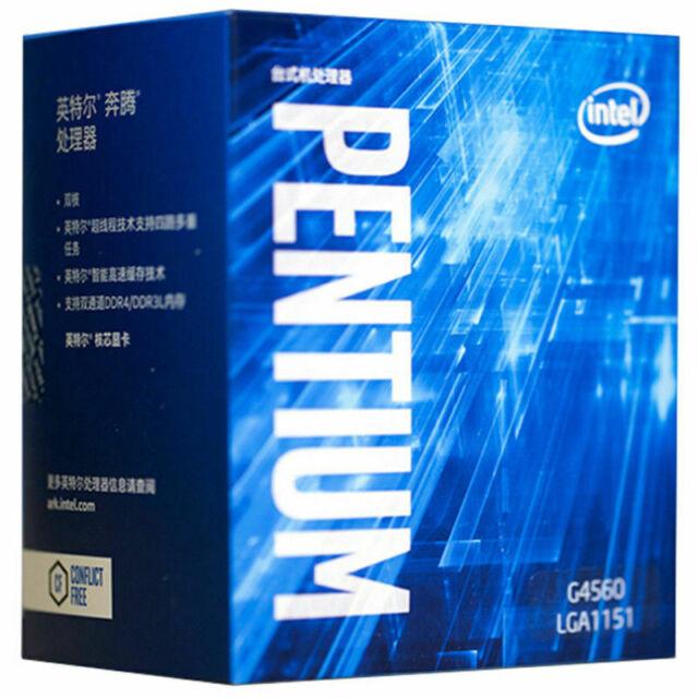 Intel Pentium G4560 Dual-Core Kaby Lake Processor 3.5GHz 8.0GT//s 3MB LGA 1151