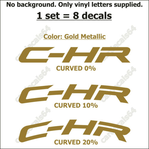 8 X TOYOTA C-HR Brake Caliper Decal Sticker Emblem Logo Vinyl High Temp I