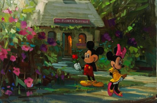 Disney Oil Framed Picture Canvas Mickey /& Minnie Mouse 30x20 Inch Canvas