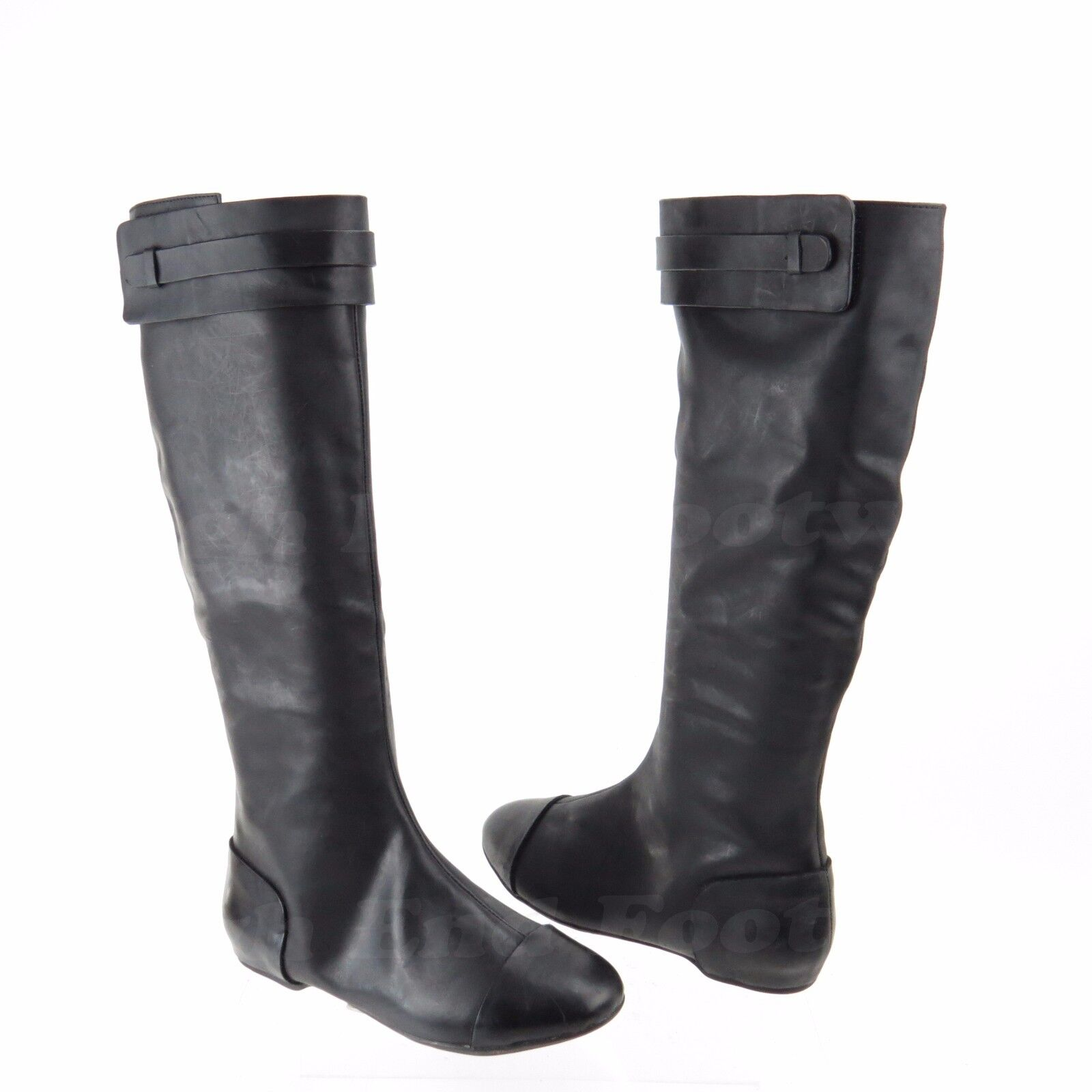 Max Studio Draping Women's shoes Black Leather Tall Boots Boots Boots Sz 6.5 M NEW RTL  378 f7b82f