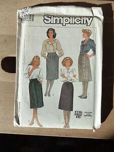 Vintage Simplicity Pattern, 1986, Divers Femme Au-dessous Du Genou Jupes, Taille 16-afficher Le Titre D'origine Promouvoir La Santé Et GuéRir Les Maladies