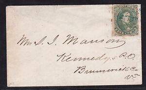 Confederate States Of America #1c Used On Cover