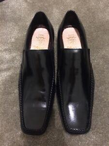 Men's Black Leather Smart Shoes Size 6
