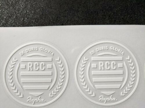 2 X RCC Frame Helmet Car Phone Bike Vinyl Sticker Decal Rapha EX DURIS GLORIA