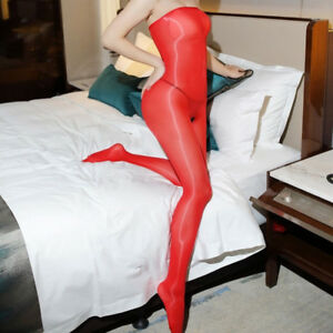 Women-8D-Shiny-Glossy-Bodysuit-Crotchless-Body-Stockings-Tights-Shaping-Bodyhose