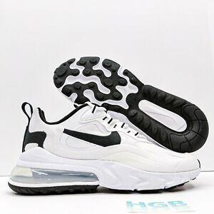 Nike Air Max 270 React Men's Running Training Gym Sport White Black CT1264-102