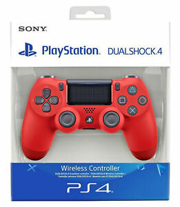 SONY-CONTROLLER-DUALSHOCK-V2-PS4-PLAYSTATION-4-WIRELESS-COLORE-ROSSO-RED