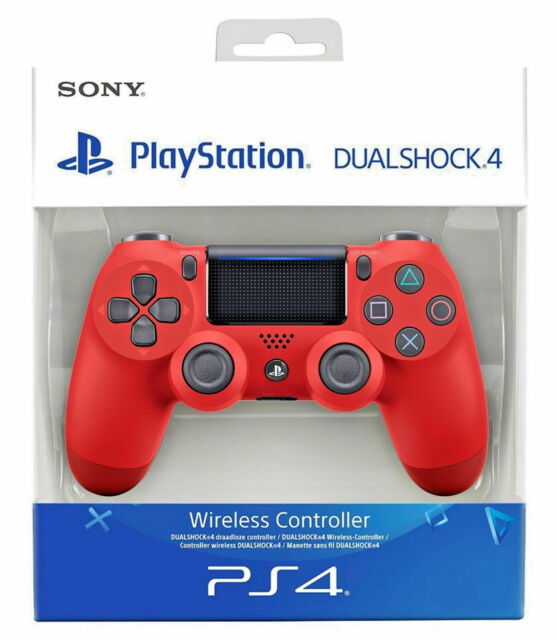 SONY CONTROLLER DUALSHOCK V2 PS4 PLAYSTATION 4 WIRELESS COLORE ROSSO RED