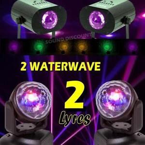 JEUX-DE-LUMIERE-PACK-DE-4-EFFETS-2-LYRES-LMH-2-EFFETS-WATERWAVE-PA-DJ-SONO-MIX