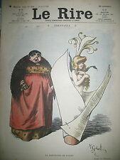 LE RIRE N° 271 CARICATURE HUMOUR DESSINS GERBAULT HELLé VADASZ BURRET 1908