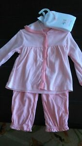 Baby-girl-3-piece-outfit-9-months-new-long-sleeved-jacket-pants-bodysuit-pink