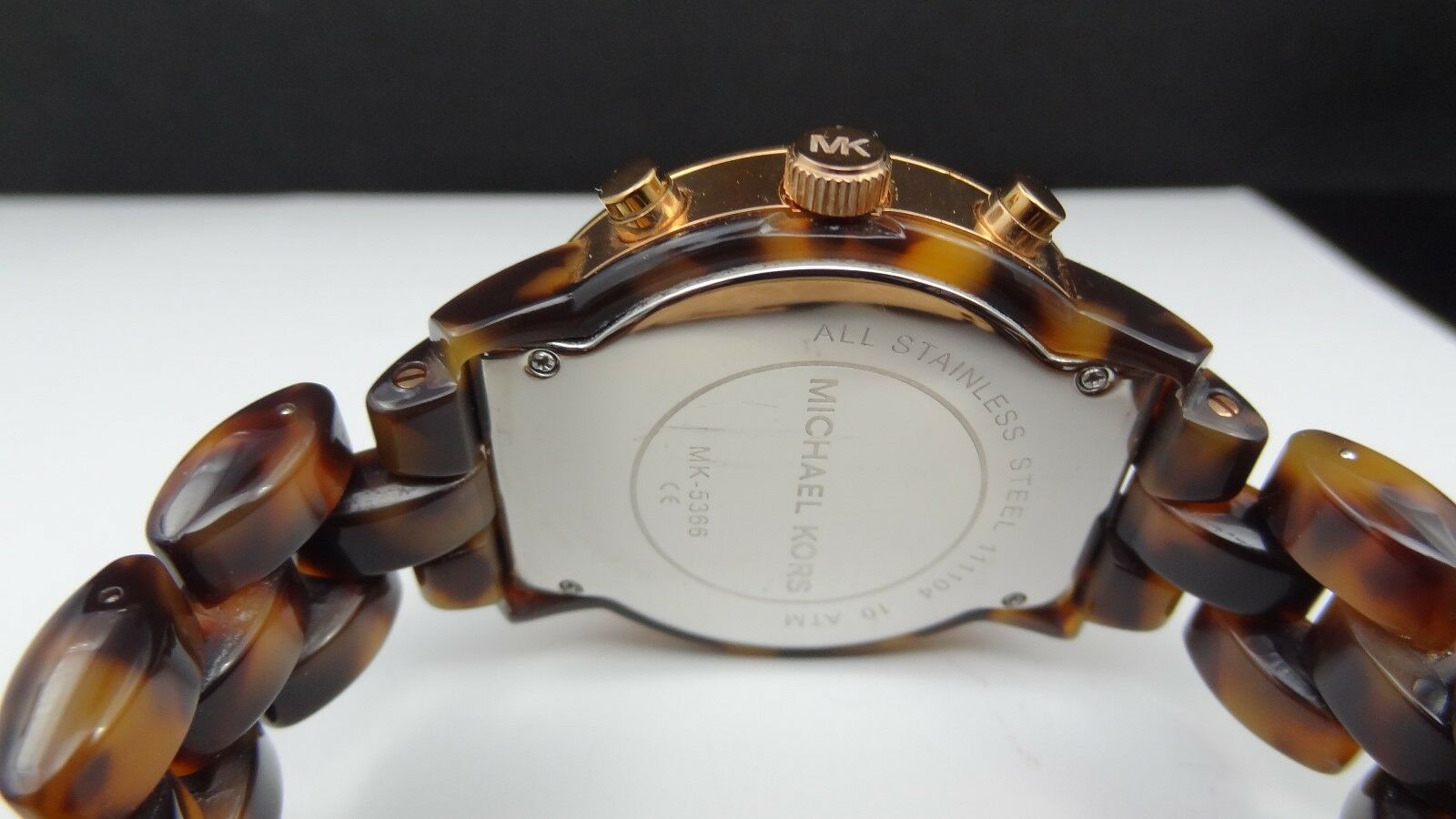 2ea0ce5746d5 Michael Kors Tortoise Show Stopper Glitz MK5366 Women s Watch for sale  online