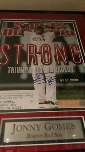 Sports-Illustrated-Cover-Jonny-Gomes-Red-Sox-autograph-11x14-NO-FRAME