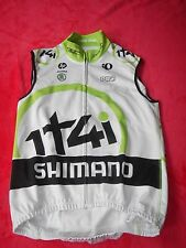 ORIGINALE SHIMANO 1t4i Team Pearl Izumi Cycling Soft Shell Inverno Gilet RAR