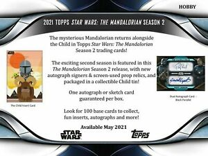 2021 Topps Star Wars The Mandalorian Season 2 Hobby Box Pre Order (Ships 6/23)