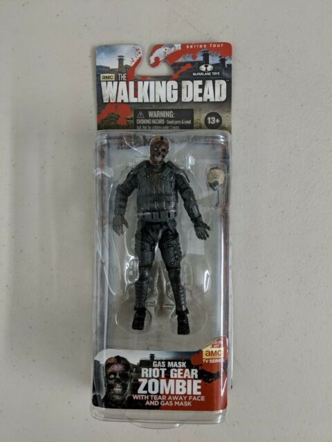 Gas Mask Riot Gear Zombie Action Figure The Walking Dead TV Series 4 Sealed 2013
