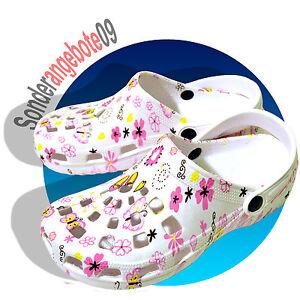 Clogs-Schuhe-Hausschuh-Gartenschuh-37-39-40-41-Damenschuhe-Schmetterlinge