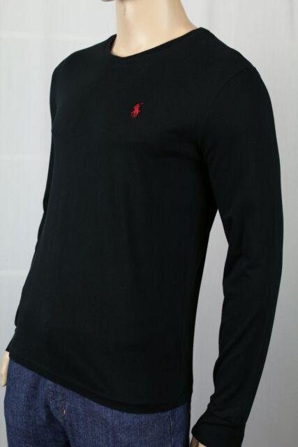 4b09e6cd8 Polo Ralph Lauren Classic Fit Black Long Sleeve V-Neck Tee T-Shirt NWT