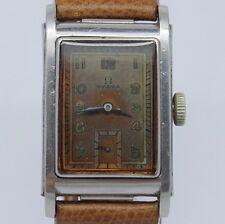 VINTAGE 1930's Omega Marine Standard Mens Steel Early Waterproof Watch CK3635