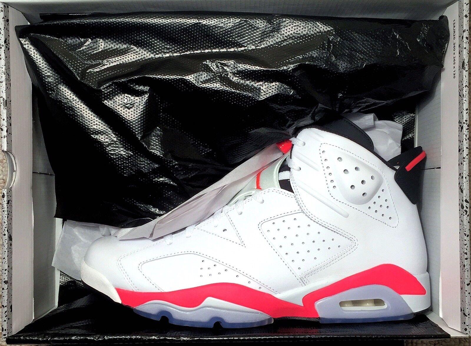 Nike Air Jordan 6 Retro WHITE INFRARED Size 12 Black Bred Cement JTH 3 11 1 4 13
