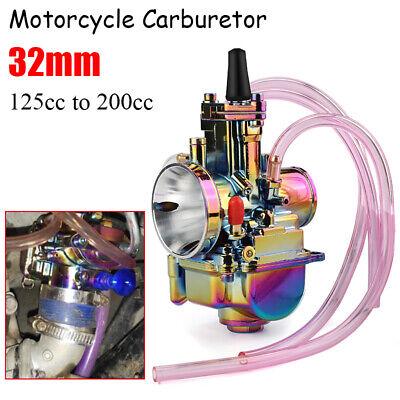 Motorcycle PWK 32MM Carburetor Carb For Honda Yamaha Suzuki Kawasaki KTM 125cc 150cc 175cc 200cc ATV Dirt Bike Black