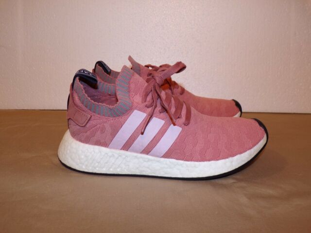 adidas Originals Women s NMD R2 PK W Primeknit Running Shoe Raw Pink ... e1379b2bb2
