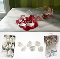 Diamond Cool Jewels Ice Cube Tray Silicone Mold Party Wedding Shower Bling