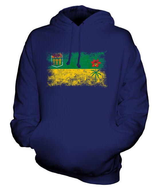 SASKATCHEWAN DISTRESSED FLAG UNISEX HOODIE TOP GIFT  CLOTHING JERSEY