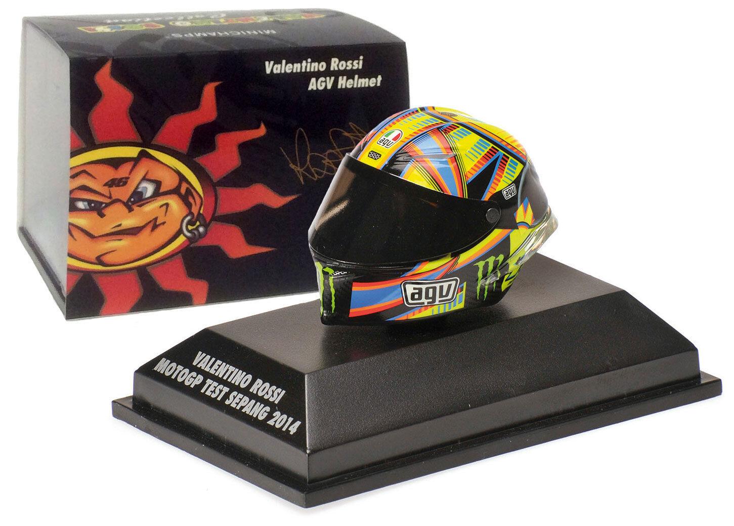 Minichamps VALENTINO ROSSI AGV Casco MotoGP TEST SEPANG 2014-scala 1/8