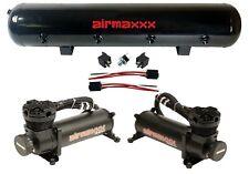 Airmaxxx Dual 480 Black Air Compressors 5 Gallon Tank Air Ride Bag Suspension