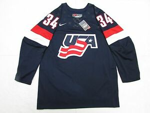 hot sale online 61bf8 d18cb Details about AUSTON MATTHEWS TEAM USA BLUE NIKE IIHF HOCKEY JERSEY