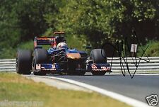 "Formula One F1 Driver Jaime Alguersuari Red Bull Hand Signed Photo 12x8"" N"