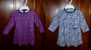 Ex-Chainstore-Girls-Floral-Classic-Dress-in-Navy-amp-Purple-6-months-to-5-years
