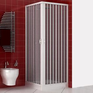 Dettagli su Box doccia 70x90 acrilico apertura a soffietto riducibile  reversibile bianco new