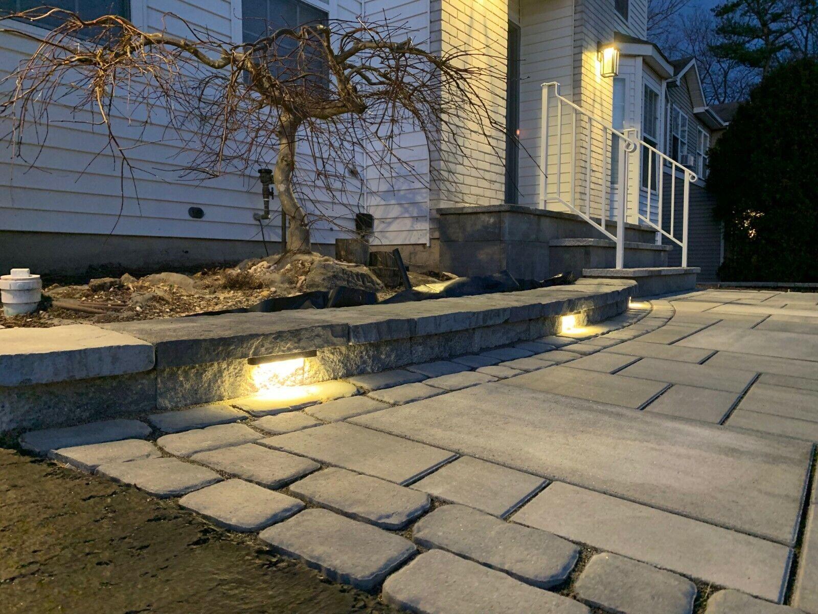 LED landscape lighting,led step light,hardscape light,10 foot cord 12V 7inch