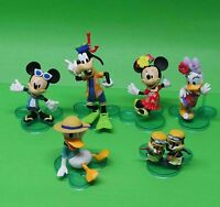 """NEW Disney LOT 6 Mickey Mouse and Donald Duck Minnie Mouse figurine 1""""-3"""" NO BOX"""