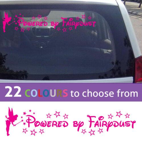 POWERED BY FAIRYDUST tinkerbell vinyl wall sticker art girls car nursery fridge