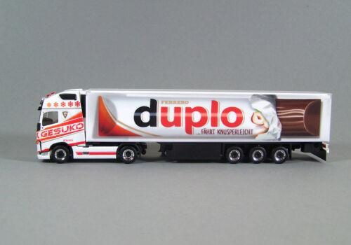 """duplo Showtruck Volvo FH Gl Herpa 307482 XL Küko-Sz /""""Gesuko // Duplo/"""" 1:87"""