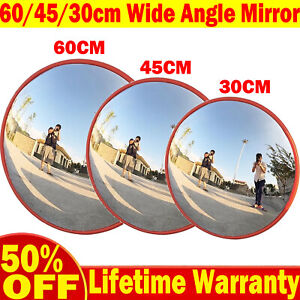 Wheels N Bits 12 Inch 30CM Traffic Supermarket Wide Angle Security Curved Convex Road Mirror