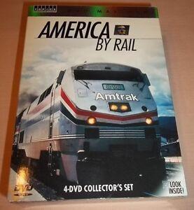 America-By-Rail-DVD-2006-4-Disc-Set-Mint