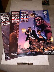 James-Bond-007-Quasimodo-Gambit-comic-set-1-2-3-lot-Ian-Fleming-Movie-Film-Spy