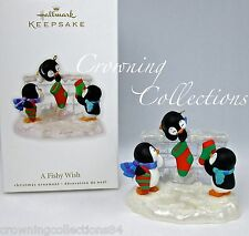 2010 Hallmark A Fishy Wish Penguins at Play Keepsake Ornament Stockings Chimney