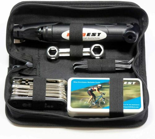FREE Shipping 100 PSI Mini Bike Pump Kitbest Bike Repair Tool Kit