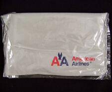 Vtg American Airlines First Class Neck Pillow in Case Blow Up Soft NEW RARE Logo