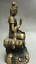 8-034-Old-Tibet-Buddhism-Bronze-Free-Kwan-Yin-Bodhisattva-On-Stone-GuanYin-Statue miniature 10