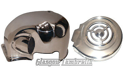 LAMBRETTA Stainless Steel Polished Engine Cylinder Head Cowl Cover Series 2 3 GP