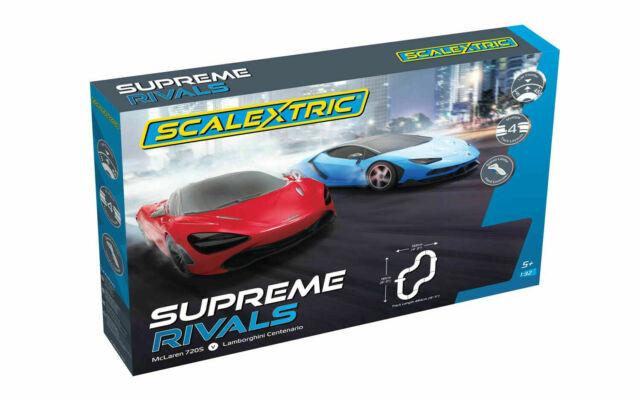 SCALEXTRIC Supreme Rivals Race Track Set C1407 - McLaren 720S VS Lamborghini