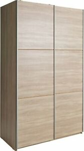 sports shoes a3079 c0c9f Details about Argos Home Holsted 2 Door Small Sliding Wardrobe - Oak Effect.